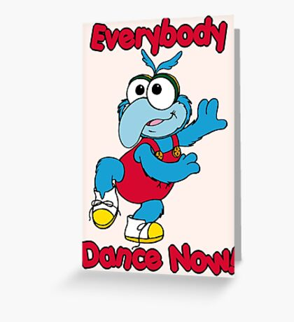 Muppet Babies - Gonzo 01 - Everybody Dance Now Greeting Card