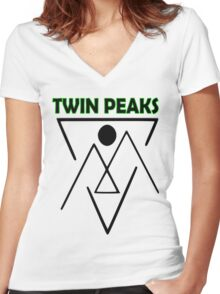 Twin Peaks- symbol Women's Fitted V-Neck T-Shirt