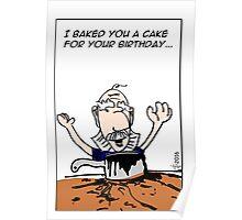 Baking Disaster Birthday Poster