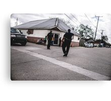 Street Cops Canvas Print