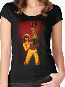 Jimmy Page Painting Women's Fitted Scoop T-Shirt