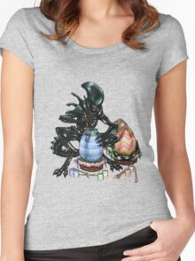 Time to Paint the Eggs Women's Fitted Scoop T-Shirt