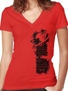 Fairy Tail Splash  Women's Fitted V-Neck T-Shirt
