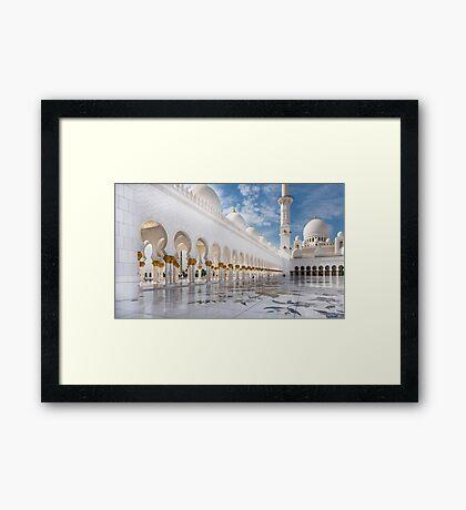 Sheikh Zayed Mosque Framed Print