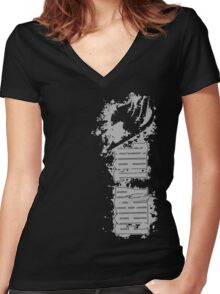 Fairy Tail Splash Grey Women's Fitted V-Neck T-Shirt