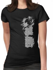 Fairy Tail Splash Grey Womens Fitted T-Shirt