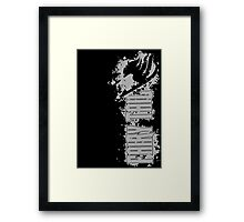 Fairy Tail Splash Grey Framed Print