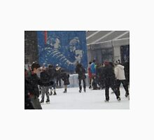Skating in the Snow, Bryant Park Skating Rink, Bryant Park, New York City Unisex T-Shirt