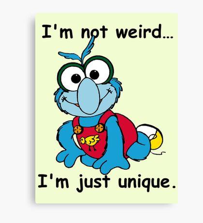 Muppet Babies - Gonzo 02 - I'm Not Weird... Canvas Print