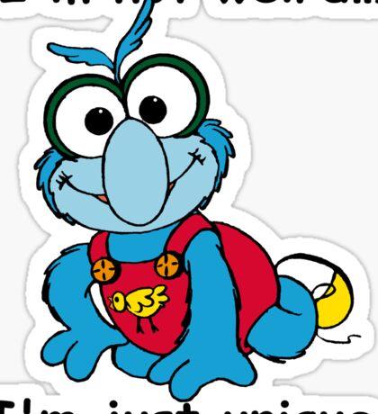 Muppet Babies - Gonzo 02 - I'm Not Weird... Sticker