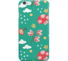gamer pattern (teal) iPhone Case/Skin