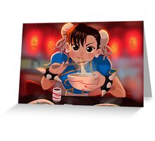 Chun-Li Noodles Greeting Card
