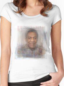 Bill Cosby Portrait Women's Fitted Scoop T-Shirt
