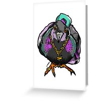 Homie Pigeon (Colorful 90's) RedBubbleArtParty Greeting Card