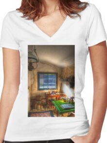 The Gardeners Cottage  Women's Fitted V-Neck T-Shirt