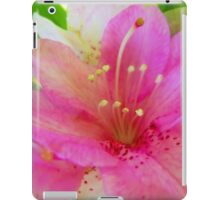 Soft Pink and White Flora iPad Case/Skin