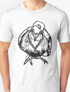 Homie Pigeon (Black & White) RedBubbleArtParty Unisex T-Shirt