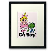 Muppet Babies - Kermit & Miss Piggy - Oh Boy Framed Print
