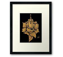 Buster Sword Rose Framed Print