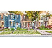 Townhouses Halifax Nova Scotia Photographic Print
