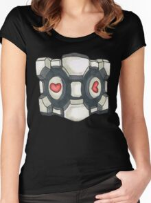 companion cube Women's Fitted Scoop T-Shirt