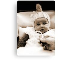 Cute Little Baby in Wartime National Socialist Germany Canvas Print