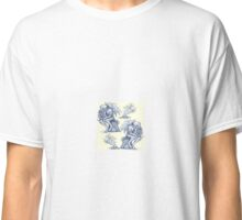 Picnic with Cthulhu  - Blue on Cream Classic T-Shirt