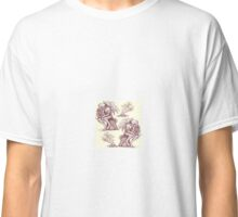 Picnic with Cthulhu  - Wine on Cream Classic T-Shirt