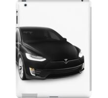 Black 2017 Tesla Model X luxury SUV electric car isolated on white art photo print iPad Case/Skin