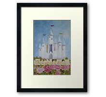 Fairytale Castle, Art for Children, Hand painted, Original, Canvas Wall Hangings Framed Print