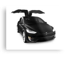 Black 2017 Tesla Model X luxury SUV electric car falcon doors art photo print Metal Print