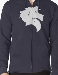 Horse Logo Zipped Hoodie