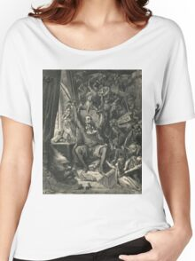 Don Quixote in his study by Gustave Dore Women's Relaxed Fit T-Shirt