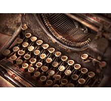 Steampunk - Typewriter - Too tuckered to type Photographic Print