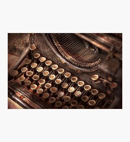 Steampunk - Typewriter - Too tuckered to type Photographic Print