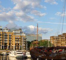 Huantian - Chinese Junk Sailing Vessel at St Katharine Docks, London, UK Sticker