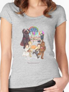 Curse those thieving, silent Jedi Knights (and on Christmas too!) Women's Fitted Scoop T-Shirt