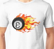 Flaming 8 Ball Unisex T-Shirt