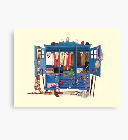 The Who-drobe Canvas Print