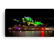 Shark Sails Too - Sydney Opera House - Sydney Vivid Festival Canvas Print