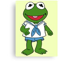 Muppet Babies - Kermit Canvas Print