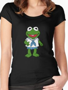 Muppet Babies - Kermit Women's Fitted Scoop T-Shirt