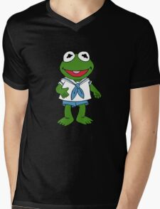 Muppet Babies - Kermit Mens V-Neck T-Shirt