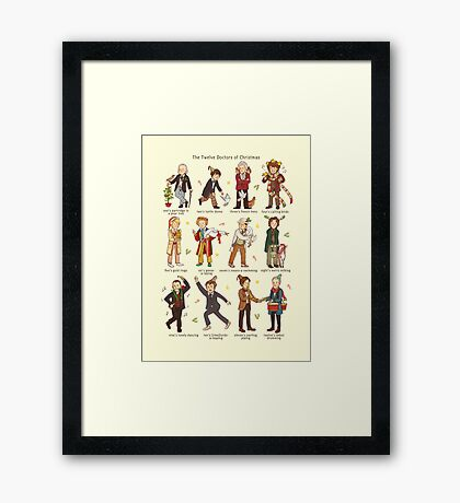 The Twelve Doctors of Christmas Framed Print