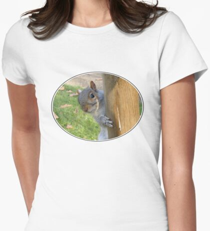 Peek-a-Boo! (Self Portrait in the Eye) Womens Fitted T-Shirt