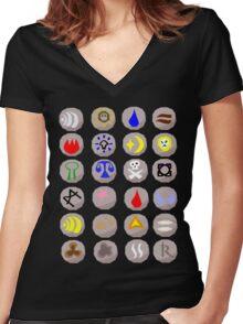 Runes --- Runescape Women's Fitted V-Neck T-Shirt