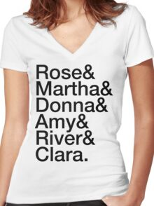 Companions Women's Fitted V-Neck T-Shirt