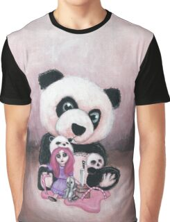 Candie and Panda Graphic T-Shirt