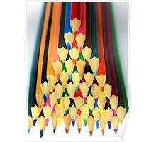 Colored Pencil Pyramid Poster