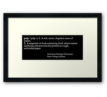 Pulp Fiction: Definition Framed Print